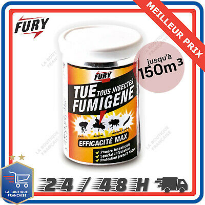 FURY Fumigène Insecticide Infestation Insectes Volants Rampants 150 M3