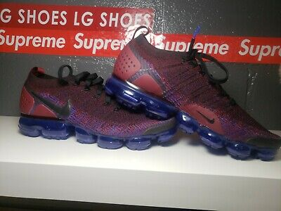 Mens Nike Air Vapormax Flyknit  size 11.0 mens Blak-leam Red-racer blue