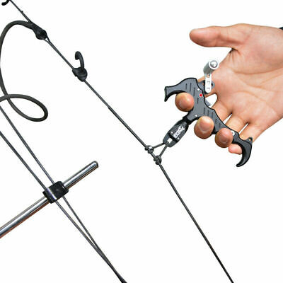 Black 3 or 4 Finger Grip Caliper Arrow Release Aids Compound Bow Hunting Archery