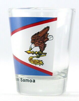 American Samoa Flag Shot Glass Shotglass