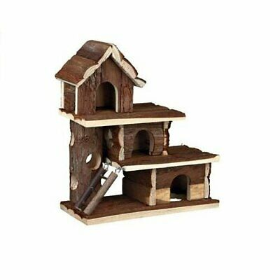Trixie Natural Tammo Wooden Mouse Hamster Cage House Den Ladders 3 Storey 61708