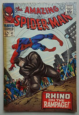 Amazing Spider-Man comic #43 - Dec 1966 Spiderman Marvel FR/GD (phil-comics)
