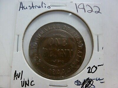 1922 Commonwealth of Australia One Penny Coin