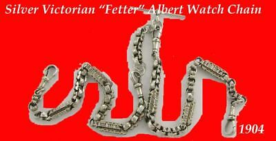 Double Victorian Albert Fusee Fetter Watch Chain 1904
