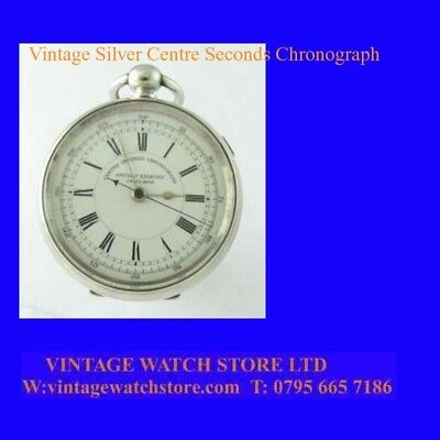 Victorian Superb Swiss Silver Chronograph Centre Seconds Stop Pocket Watch 1862