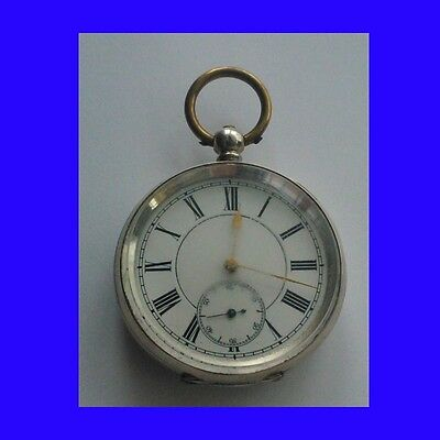 Substantial Victorian Silver Swiss Lepine KW  Cylinder Pocket Watch Ca. 1885