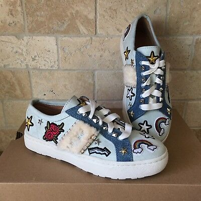 2d3f84a7331 UGG PATCH IT Sneakers Womens Denim with Patches Lace Up Size 5.5 ...