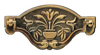 """4.5"""" Antique Victorian Style Solid Brass Plate Handle 3038SOC/A"""
