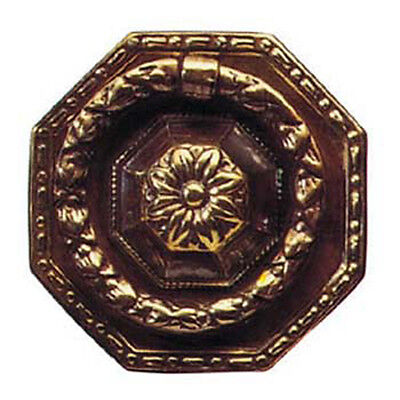 """2.5"""" Antique Style Solid Brass Octagonal Ring Drawer Handle 1659A/C"""