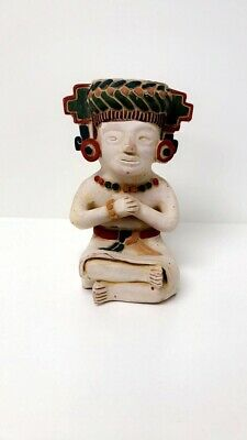 Aztec/Mayan Precolumbian Mexican Seated Clay Figure
