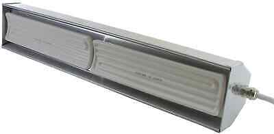 Pubsun Infrared Heaters 1300W White Ceramic Elements Polished Metallic Casing