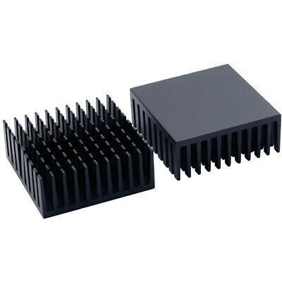 35*35*14mm Black Anodized Aluminium Heat Sink For Power Transistor/TO-126/TO-220