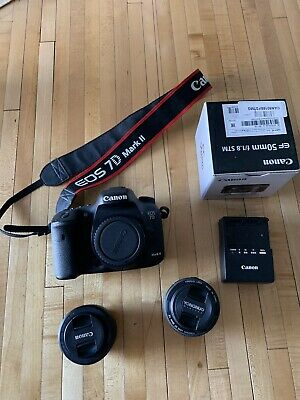 Canon EOS 7D Mark II Camera - 50mm 1.8 And 35mm  2 WiFi