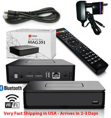 NEW INFOMIR MAG 351 4K with built-In Wi-Fi & 2GB RAM Extremely Fast!