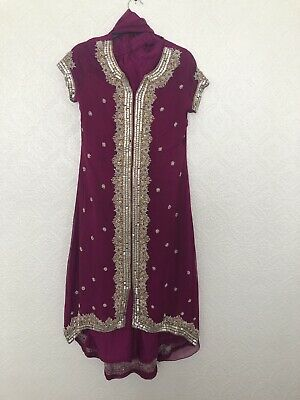 Womens 3 Piece Asian Pink Outfit Size S