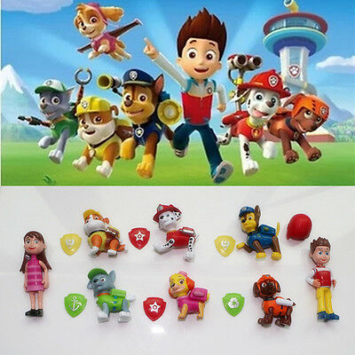 8pcs Cute Paw Patrol Action Figures Dog Pup Doll Set Kids Baby Boy Girl Toy Gift