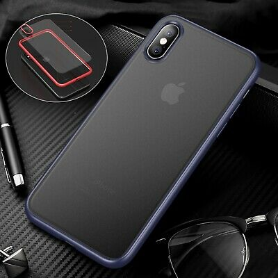 Shockproof Matte PC Back+TPU Bumper Case Cover For iPhone 7/8 Plus XS Max XR XS