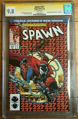 Spawn #227 Amazing Spider-Man #300 Homage CGC SS 9.8 Signed by Stan Lee