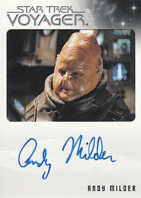 Star Trek Voyager Quotable 2012 Andy Milder autograph