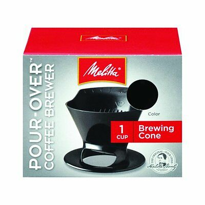 2 Pack of Melitta Ready Set Joe Single Cup Coffee Brewer Black with Filters