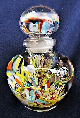 Art Glass Paperweight Perfume Bottle