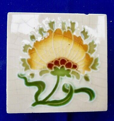 "Original  English  Art Nouveau tile , c1906 3""X3""""Tile ref Mintons China Wks"