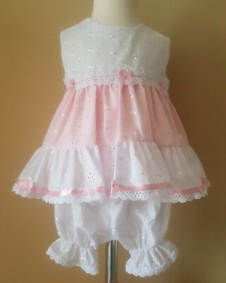 Baby girls spanish/traditional style dress,bloomer,hat 3-6months