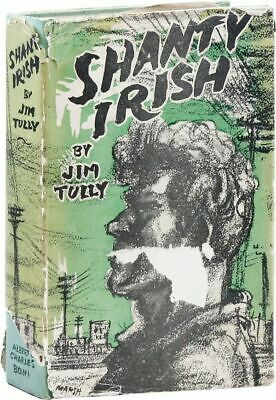 Jim Tully SHANTY IRISH 1st ed/DJ 1928 Irish-American social fiction