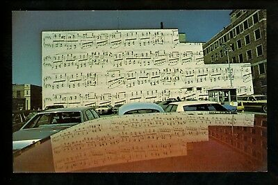 Minnesota MN postcard Minneapolis, Schmitt Music Company chrome advertising