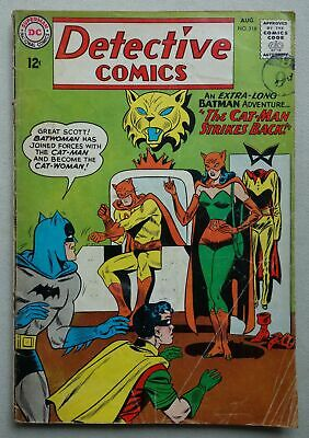 Detective Comics #318 - Aug 1963 Batman DC Comics GD+ (phil-comics)