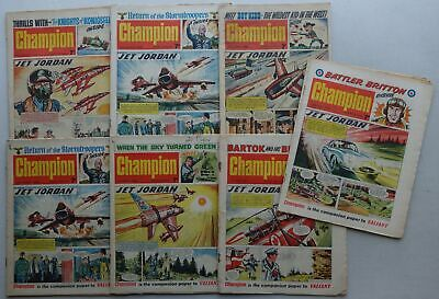 Champion comic 1966 x 7 (from #4) Most GD and GD/VG (phil-comics)