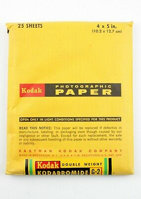 "195056  Kodak Double-Weight 4x5"" Kodabromide G2 B&W Printing Paper *EXPIRED*"