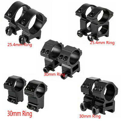 Tactical 25.4mm/30mm Ring High Profile Scope Mount 11/20mm Picatinny Weaver Rail