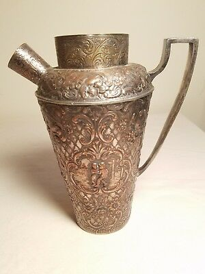 1922 E.G. Webster & Son Dutch Silver Reproduction Silver on Copper Shaker