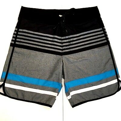 6a84cd6a67 FIREFLY MENS BOARD Shorts 34 Swim Trunks Gray Black Surf Skate ...