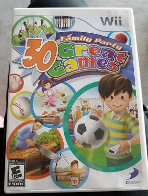 Family Party: 30 Great Games (Nintendo Wii 2008) GAME COMPLETE SUPER FUN FOR ALL