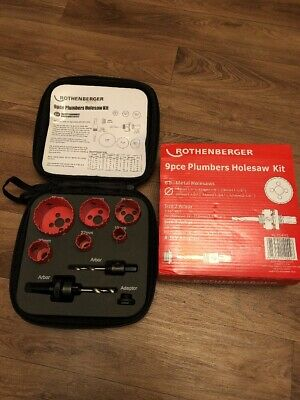 Rothenberger 9pce Plumbers Holesaw Kit - 114202 - Brand New