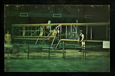 Aviation airplane postcard Wright Brothers 1909 Model chrome