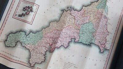 ~ 20 ~ Antique ~ Map ~ Cornwall ~ Divided ~ Hundreds ~ C Smith ~ London ~ 1801 ~