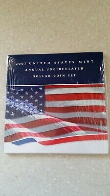 2007 US Mint Annual Uncirculated Dollar Coin Set w/American Eagle Dollar Coin