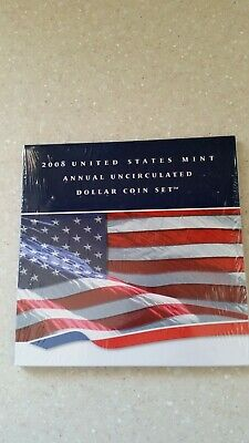 2008 US Mint Annual Uncirculated Dollar Coin Set w/American Eagle Dollar Coin