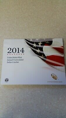 2014 US Mint Annual Uncirculated Dollar Coin Set w/American Eagle Dollar Coin