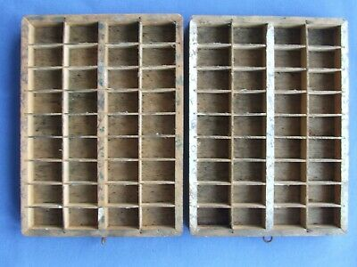 Letterpress Printing Adana TWO SMALL TYPECASE x 2 TRAYS 36 plywood divisions (3)