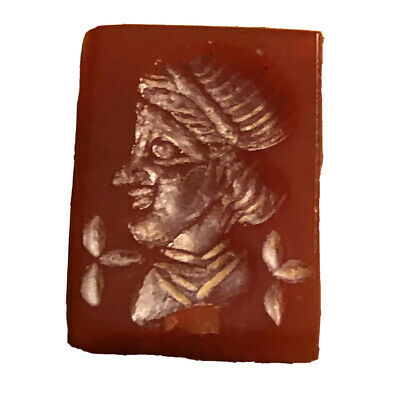 8.3 Ct Ancient Roman Empire Style Agate Or Carnelian Intaglio Stone From Pendant
