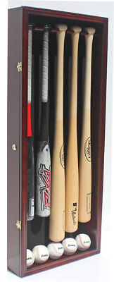 Autographs-original Display Cases Pro Uv 3 Baseball Bat Display Case Holder Wall Cabinet Shadow Box B33-mah Punctual Timing