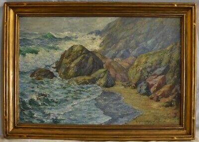 HAMMARSTROM SEASCAPE OIL PAINTING , listed California artist