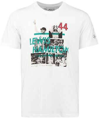 Mercedes AMG Petronas Special Edition Lewis Hamilton Record Poles T-Shirt New