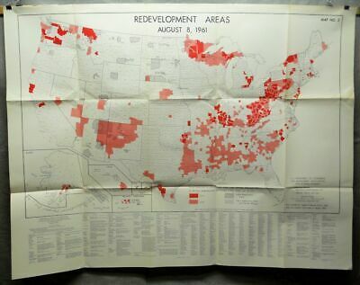 1961 Redevelopment Areas Map No. 2 US Department of Commerce State County Level