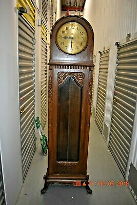 GUSTAV BECKER 2 WEIGHT GRANDFATHER CLOCK serviced and working for project