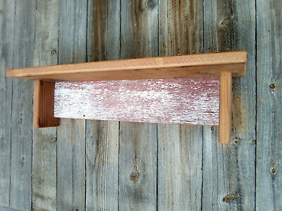 Handmade Antique Barn Wood Rustic Country Primitive Shelf Farm House Patina N5